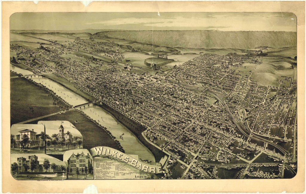 Wilkes Barre Luzerne County PA 1899